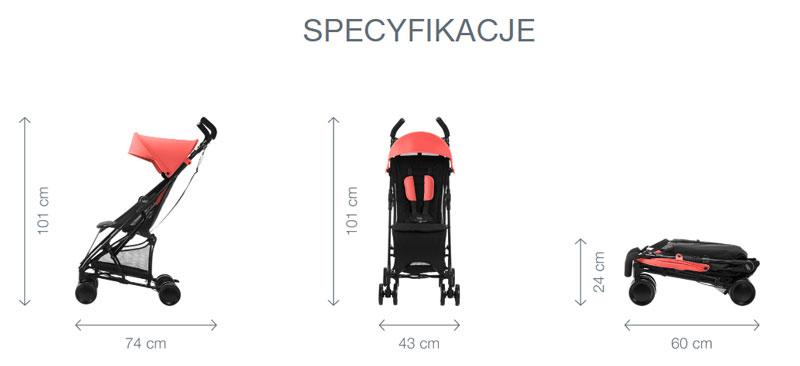 britax & romer holiday2 wózek spacerowy